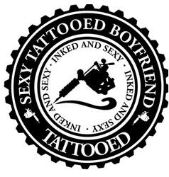 sexy tattooed boyfriend vector image