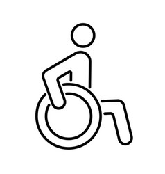 Sign icon person disabled simple vector