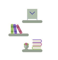 Simple bookshelves vector