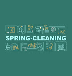 Spring cleaning word concepts banner housekeeping vector