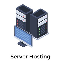 Web hosting vector