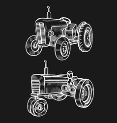 Wheeled tractor vector