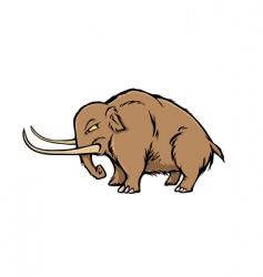 Woolly mammoth vector
