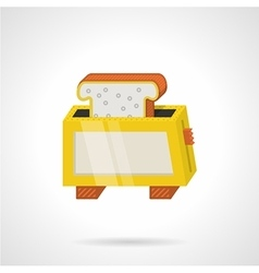 Yellow toaster flat color icon vector image