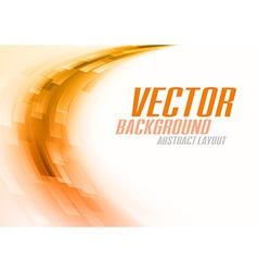 background curve stripes orange white vector image