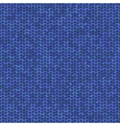 blue knitted seamless pattern vector image