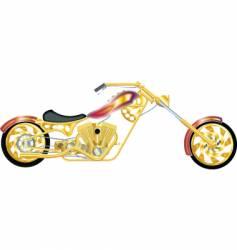 chopper gold vector image
