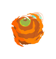 jupiter planet of the solar system cartoon vector image vector image