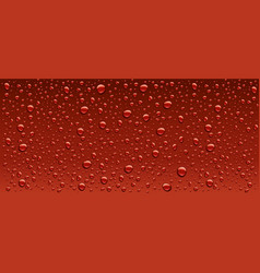 panorama dark red water droplets background vector image vector image