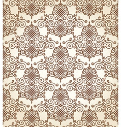 seamless calligraphic ornament background vector image vector image