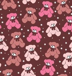 Seamless pattern teddy bears vector