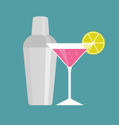 shaker with pink martini vector image