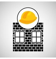 construction brick helmet tool graphic vector image