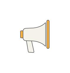 loudspeaker line icon bullhorn sign megaphone vector image