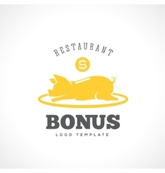Restaurant Bonus Abstract Label or Logo vector image