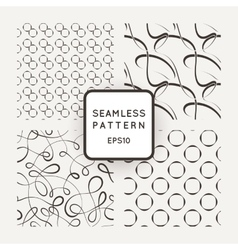 A set of four seamless patterns Curls vector image vector image