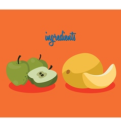 apples melon vector image vector image