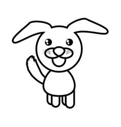 cartoon dog animal outline vector image vector image