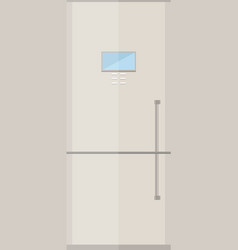 fridge icon or button in flat style vector image vector image