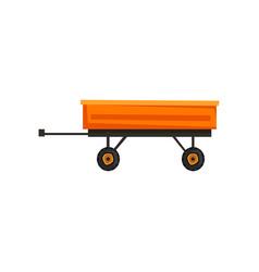 Grain trailer agriculture industrial farm vector