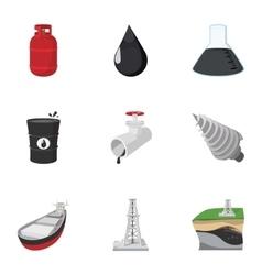 Petroleum icons set cartoon style vector image