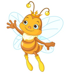 Queen bee showing vector image vector image