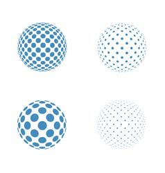abstract globe logo template vector image vector image
