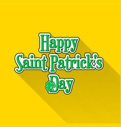 flat saint patricks day typographic label vector image
