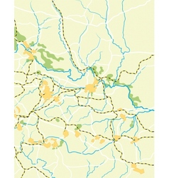 map of the country vector image