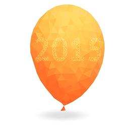 Polygon color Glossy Balloons vector image