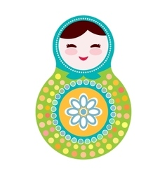 Russian dolls matryoshka on white background vector image vector image