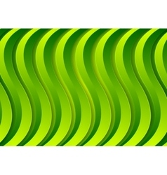 Abstract corporate green material waves vector