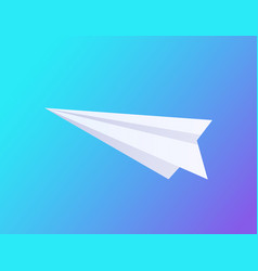 airplane made paper icon vector image