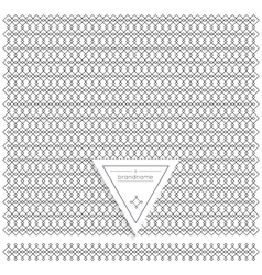 Backgound of line geometric hipster vintage design vector image
