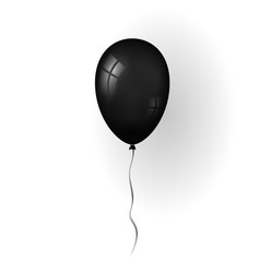 balloon 3d icon isolated on white background vector image
