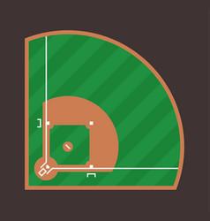 baseball field icon flat baseball field design vector image