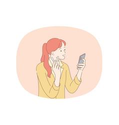 Beauty toothache hygiene concept vector