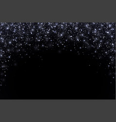 Black falling particles arch form vector