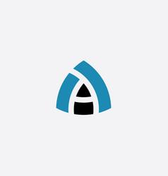 blue black letter a logotype symbol vector image