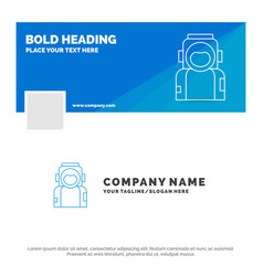 blue business logo template for astronaut space vector image
