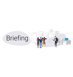 businesspeople group teamwork training conference vector image