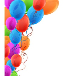Celebrate background with colorful balloons vector image