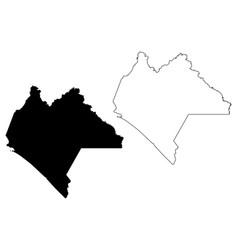Chiapas map vector