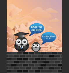 comical back to school teacher and student vector image