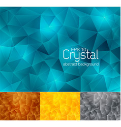 Crystal abstract background 3 vector