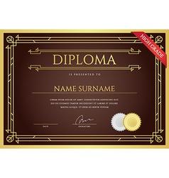 Diploma or Certificate Premium Design Template in vector image