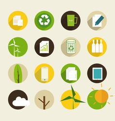 Ecological icon vector image