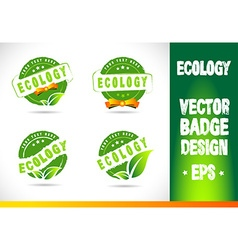 Ecology badge label vector