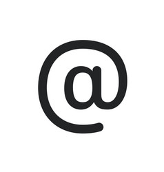 email sing icon symbol pictograph isolated vector image