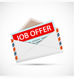 Envelope with a job offer vector